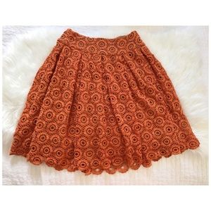 Anthropologie Moulinette Soeurs lace skirt, size 8
